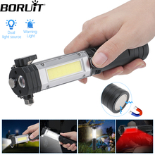 BORUIT Portable Lantern Multi-function Working Lamp XPE COB LED Magnetic Inspection Flashlight For Camping Torch