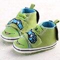 Venda quente Do Bebê Sola Macia Outono Inverno Meninos Da Lona Dos Desenhos Animados Tartarugas Impressão Bat Primeiro Walkers-nascidos sapatos Mocassins Sapatos Infantis