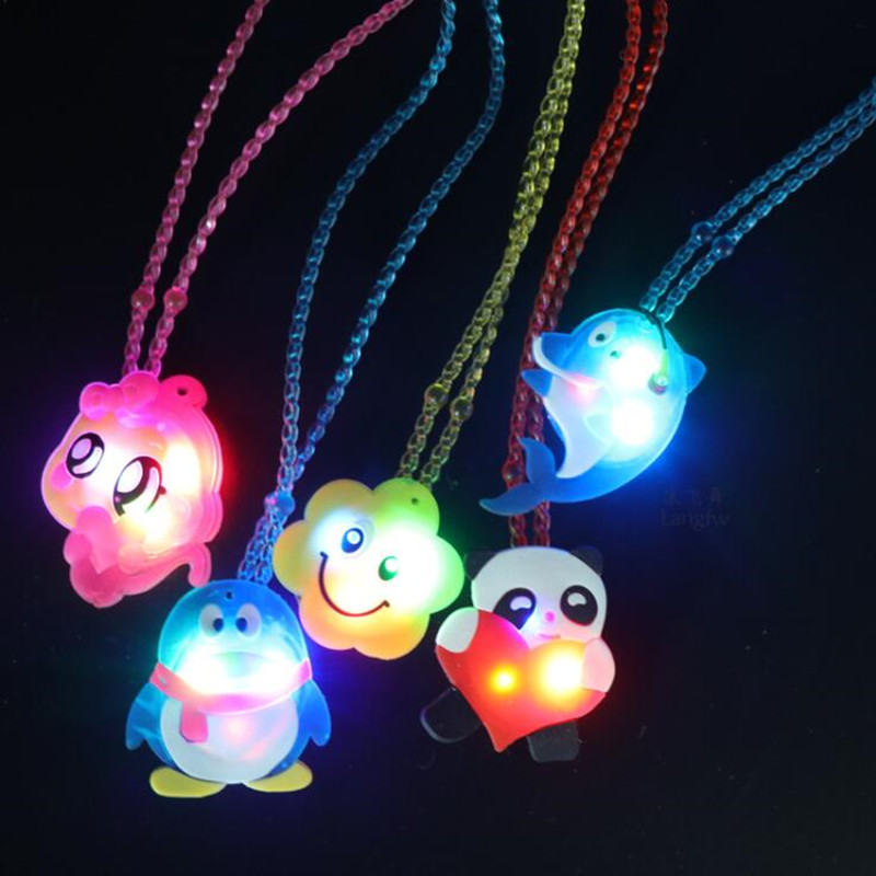 Novelty & Special Use Kids Children Light Up Jelly Star Heart Led Flashing Necklace Pendants Gift Rave Party Wedding Cosplay Props Halloween Costume Props