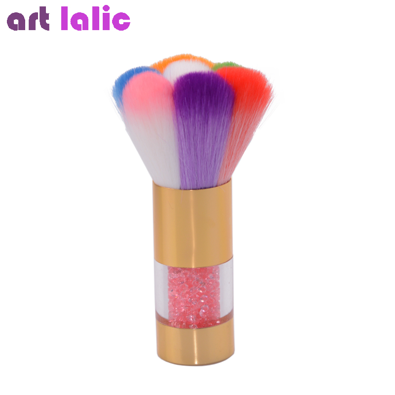 Nail Dust Brushes Acrylic UV Nail Gel Powder Nail Art Dust Remover Brush Cleaner Rhinestones Makeup Foundation Tool все цены