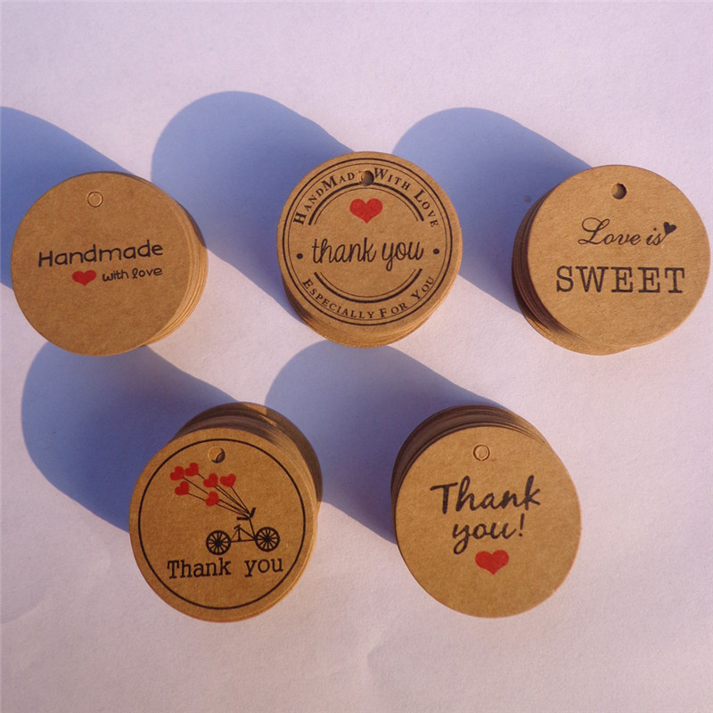 Handmade with Love Sticker Thankyou Label Seal Craft Wedding Hand Made Gift Tag