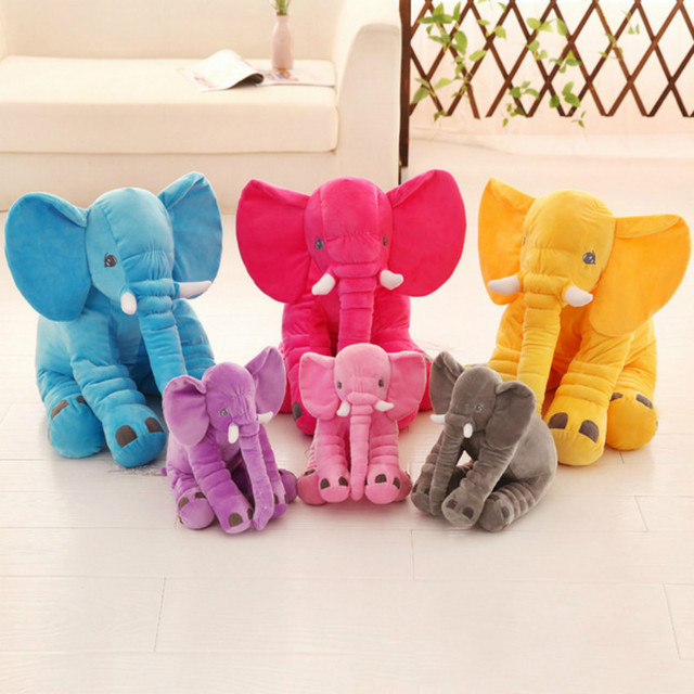 Cute Soft  Elephant  Doll Baby Toys Elephant Pillow Plush Toys Stuffed Doll Gift for Girl Kids One Piece 11.8in