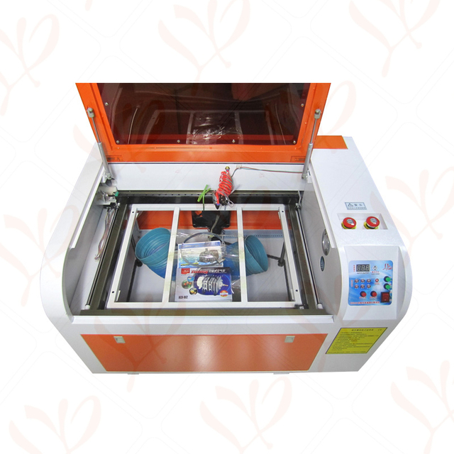 LY 6040M 60W CO2 Laser Engraver Medium-speed Laser CNC Router Cutting Machine 400MM/S Lateral Square Rail