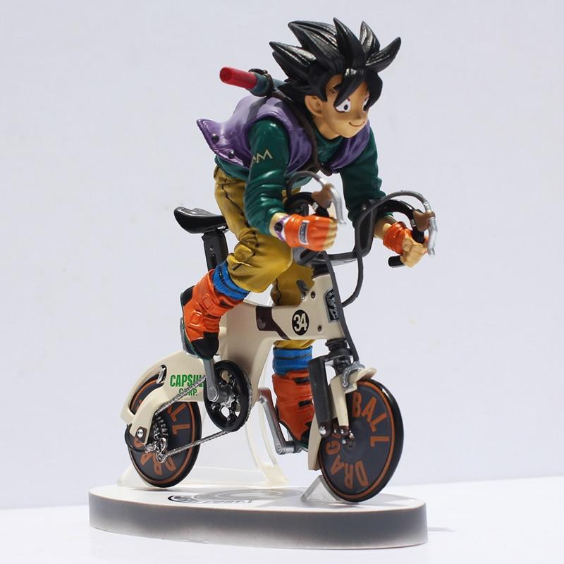 Japan Anime Figure Comic Akira Toriyama Dragon Ball Z Son Goku Bicycle Action Toys Figure Desktop Model Toy delicate turquoise inlaid geometric shape long tassel necklace for women