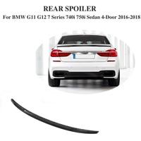 Carbon Fiber Rear Wing boot Lip Spoiler for BMW G11 G12 7 Series 740i 750i Sedan 4 Door 2016 2018 MP Style Car Accessories FRP