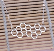 12pcs/lot fashion necklaces for women and men,honeycomb pendant necklace,personalized Science students necklace
