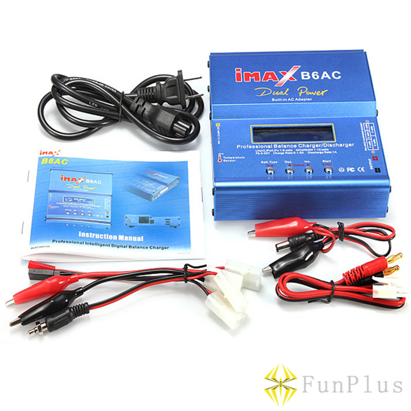 Dual Power IMAX B6AC Lipo Battery Adapter Professional Balance Charger Discharger + Power Supply + Set Tamiya Line for RC Models браслет power balance бкм 9668