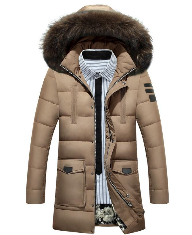 Free Shipping The New Winter 2017 Men's Fashion Leisure Men More Upscale Warm Winter Long Cotton-padded Jacket Jacket