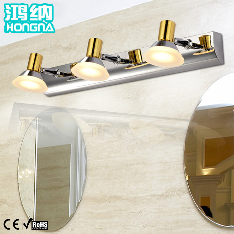 ФОТО Free Shipping 9W LED Mirror Lights 110V/220V Stainless Steel LED Wall Lights Bathroom Wall Lamp