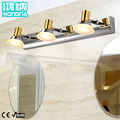 Free Shipping 9W LED Mirror Lights 110V/220V Stainless Steel LED Wall Lights Bathroom Wall Lamp