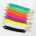 Designer 2016 New Plastic Charm Chain Bracelets For Men Women Cuff Pulseras Love Bracelets & Bangles Costume Jewelry Gifts