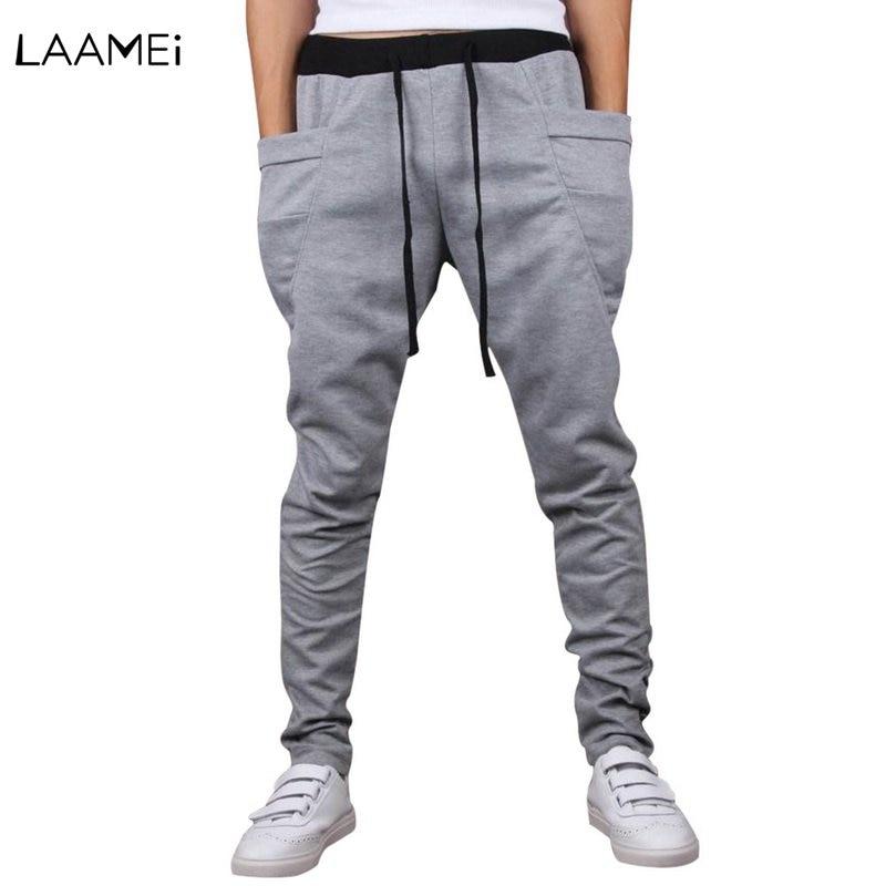 Laamei Trouser Men Joggers-Pants Pantalon Drawstring Streetwear Fitness Male Casual Homme