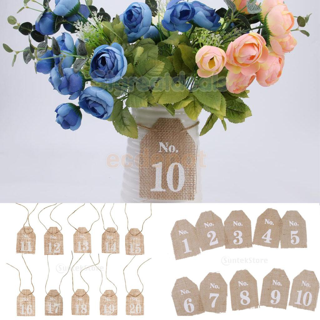vintage rusitc table numbers burlap cards 120 wedding party mainland