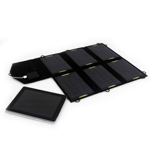 21W Dual USB interface silicon solar laptop charger mobile phone charger
