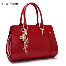 ALIWILLIAM 2017 Summer New Tide Crocodile Pattern Fashion Bride Bag Wedding Women Bag Handbag Shoulder Bag Messenger Bag