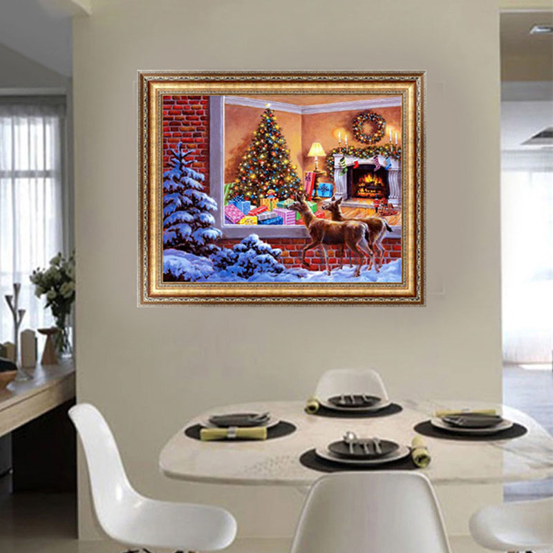 1 Set DIY 5D Diamond Painting Embroidery Elf On The Shelf Broderie Diamant Christmas Decorations For Home Navidad Cross Stitch