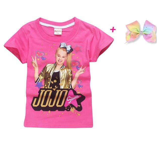 6082e9b75f placeholder 2018 New Children Summer t shirt girls boys Clothes jojo siwa  Clothing Short Sleeve T-