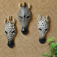 3D моделирование маски животных росписи Современный абстрактный Изделия из смолы гостиной вход Книги по искусству стены украшения дома гол...