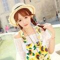 New Summer Fashion Flat Top Straw Bucket Hats Female Women Sun Beach Caps Free Shipping SCCDS-021