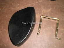 3 PCs EBONY Violin Chin rest(02#) with  GOLD color chin rest screw all 4/4 without chin rest holes
