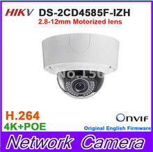 Original DS-2CD4585F-IZ H Multi-language 4K smart outdoor IP CCTV DOME CAMERA with 2.8-12mm motorized lens DS-2CD4585F-IZH