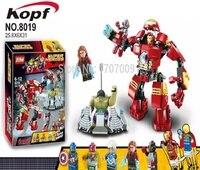 Super Heroes Ultron Figures Iron Man Hulk Buster Batman Captain America Vision Building Blocks Bricks Toys