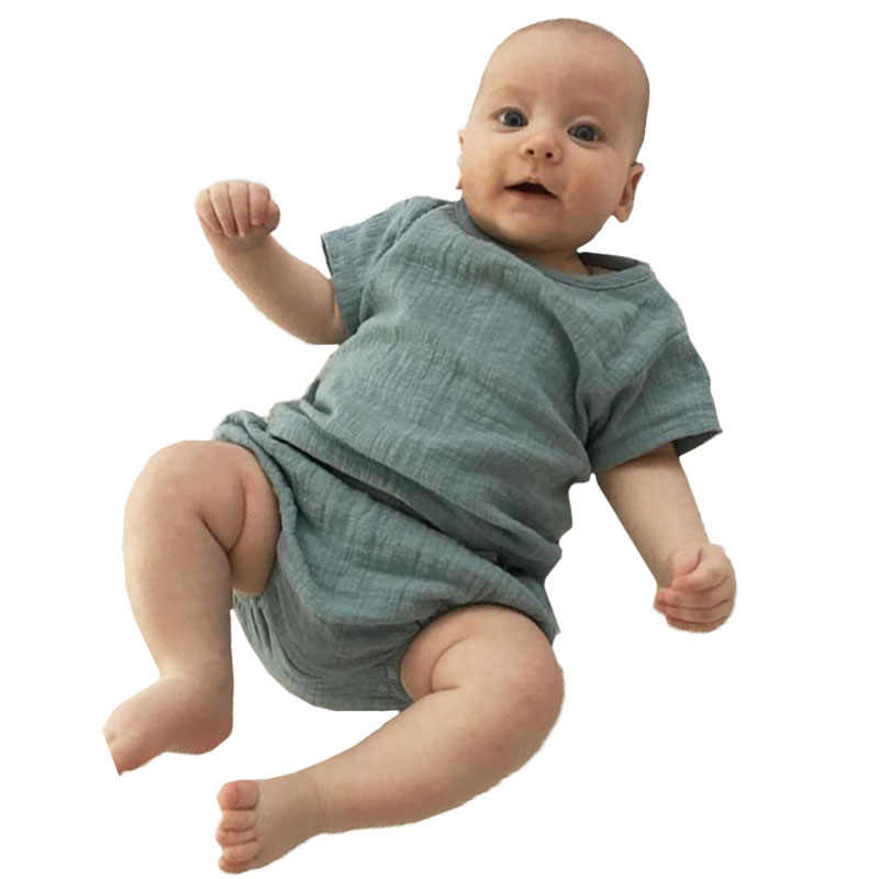 Kids Girls Boys Sets Linen Casual Sets Tops+shorts Baby Boys Girls Suits 2019 Summer Ins Fashion Cute Baby Toddler Clothing Sets