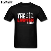 Men T Shirt Tailored White Short Sleeve Custom T Shirt Men Male Keep Calm The Lawyer