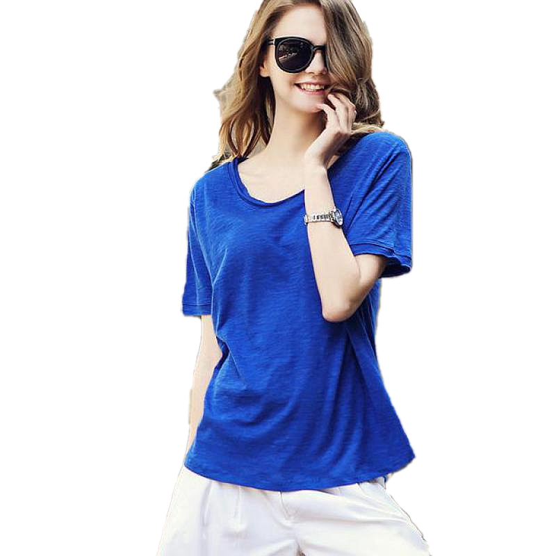 iRicheraf Blusas Femininas Loose Tops Women O neck T Shirts Short Sleeve Summer Korean Fashion Solid