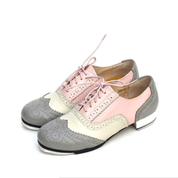 Genuine Leather Adults Children Men Women International Tap Shoes Cow Leather Production Tap Dance Shoes Scheduled