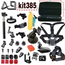 A9 For Go Professional Equipment set for GoPro Equipment Combo Equipment with EVA Case for GoPro HERO5 / HERO4 Session / HERO 5 / four /three+