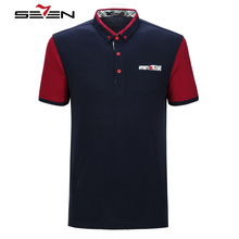Seven7 Brand Men Polo Shirts Casual Fashion Polo Shirts cotton Short Sleeve Classic Fashion Comfortable Polo