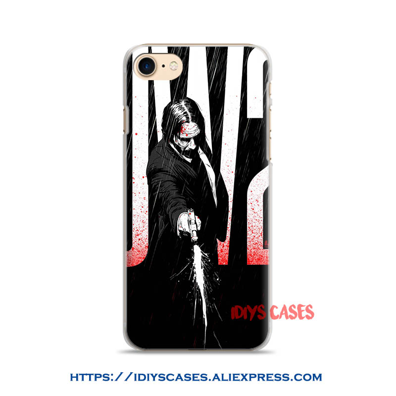 US $2 8 |John Wick Chapter 2 movie Keanu Reeves coque Phone Case Cover  Shell Bag For Apple iPhone 7PLUS 7 6SPLUS 6S 6PLUS 6 5 5S SE 4 4S-in