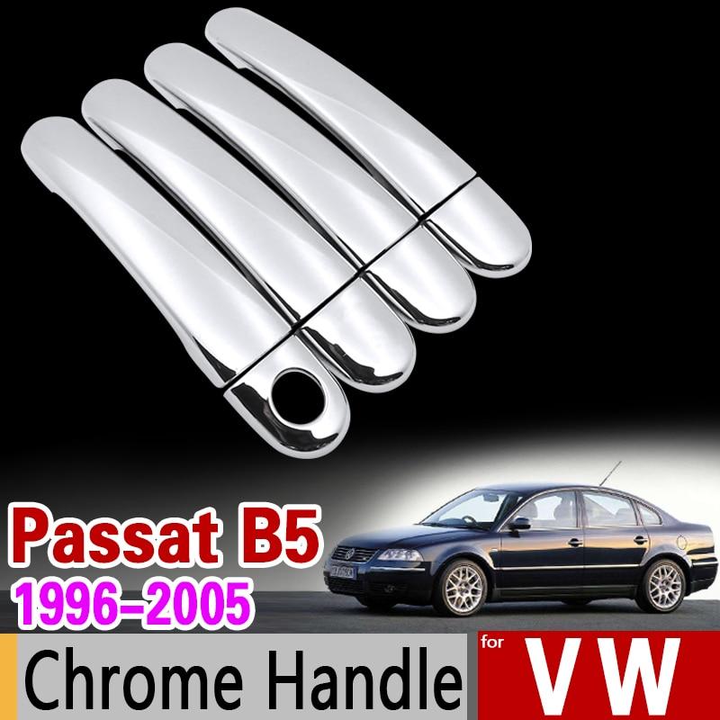for VW Passat B5 B5.5 Chrome Handle Cover Trim Set Volkswagen 1996-2005 Sedan Wagon 2003 Car Accessories Stickers Car Styling wv passat b5 турбину