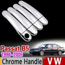 Pour VW Passat B5 B5.5 Chrome poignée couverture garniture ensemble Volkswagen 1996-2005 berline Wagon 2003 voiture accessoires autocollants voiture style