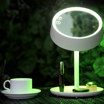 Colorful eye makeup mirror table lamp LED colorful lamp desk dressing mirror folding wedding birthday gift desk lamp ZA90614