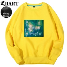 Dandelion Seeds Freedom life Taraxacum Green plant print Couple Clothes Woman teenager Girl Fleece Pullover Sweatshirts ZIIART цены