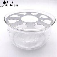 Arshen Hitzebeständige Glas Teekanne Basis Für Familie Kaffee Wasser Duftenden Tee Wärmer Kerze Heizung Basis Metall Wärmeleitung Pad