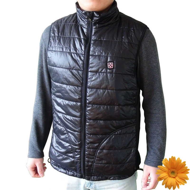 7.4V 4200mAh Electric Heated Vest Men Soft Shell Waterproof Windproof Winter Ski Snow Sportswear Thermal Warm Veste Mens Black цена