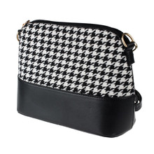 New Arrival Women Houndstooth Shoulder Bags Tote Purse Women Messenger Satchel Bag Causal Shoulder Bag For Women Free Shipping