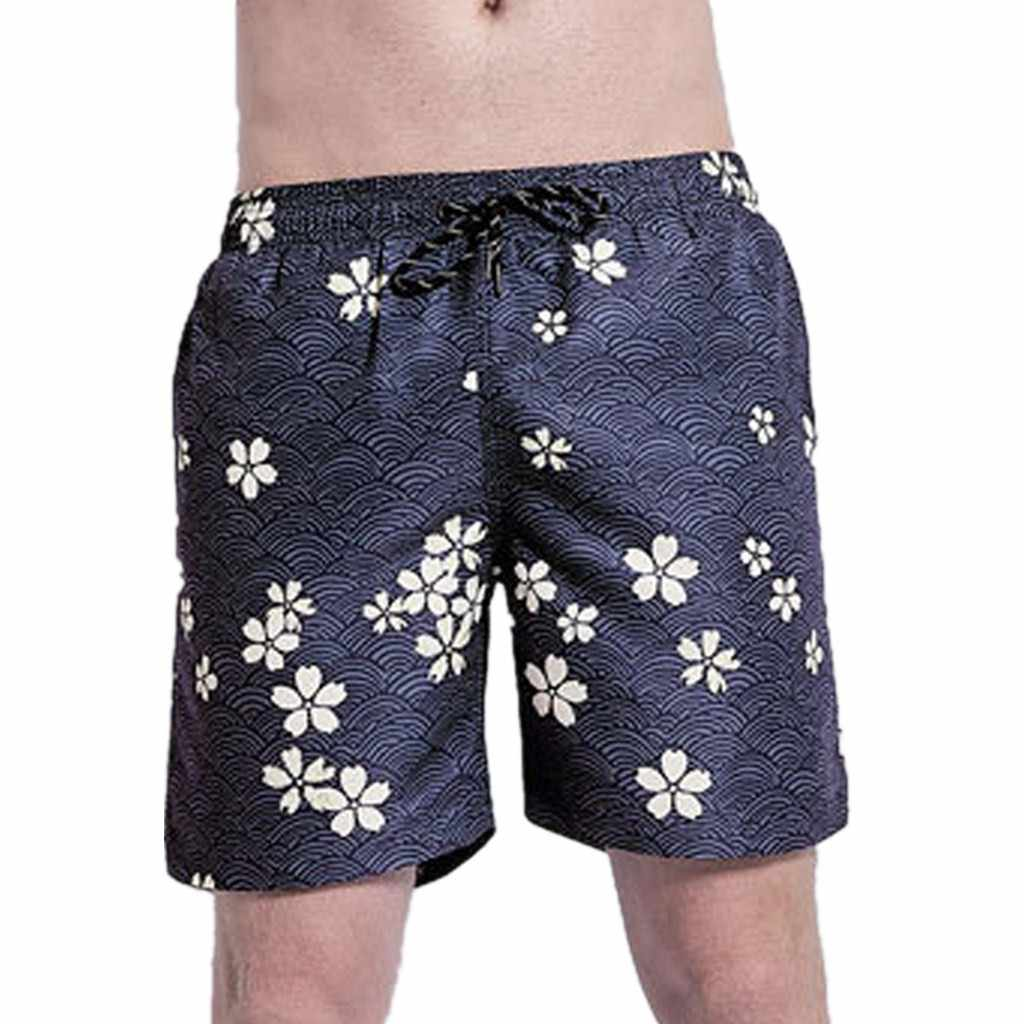 2019 Brand New Men's Casual Shorts Summer Casual Men's Swim Drawstring Trunks Quick Dry Beach Shorts Swimming Shorts Ja30