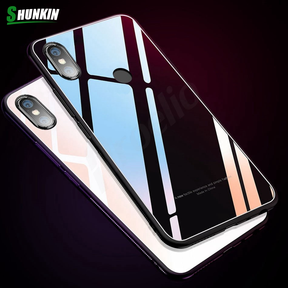 For Xiaomi Mi A1 Mi A2 Mi Mix 2s Case Tempered Glass Back Cover Phone Cases For Xiaomi Redmi Note 5 Pro 5A Redmi 4X 5 Plus Mi 8
