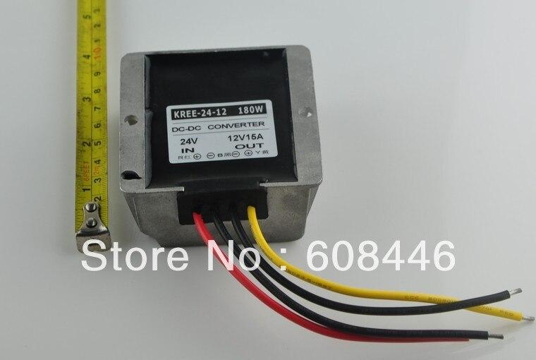 24V(19-35V) Step down to 12V 15A 180W Waterproof DC/DC buck Converter Regulator24V(19-35V) Step down to 12V 15A 180W Waterproof DC/DC buck Converter Regulator