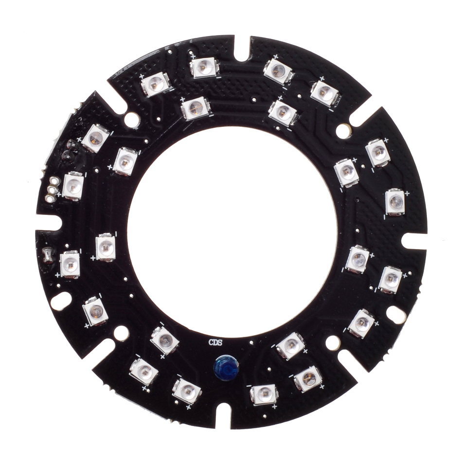 Wholesale Infrared 24pcs Laser IR LED board for CS Lens Indoor Outdoor CCTV IP cameras night vision (Diameter: 63mm) 20pcs lot 780nm cw 200mw pulse 250mw ir infrared night vision laser diode ld sharp gh0780ma4c 3 3mm 784nm 200mw to33