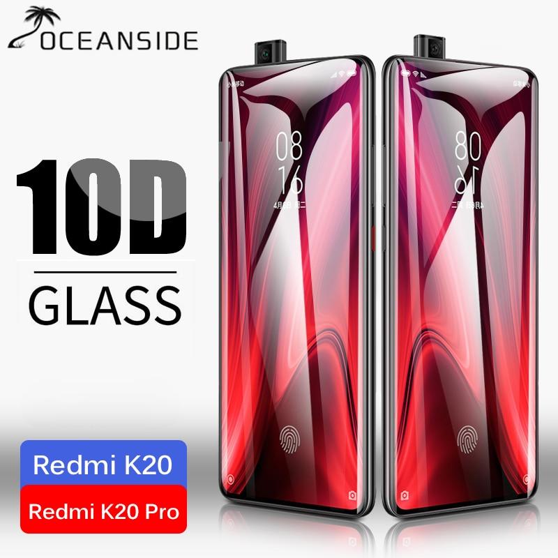 2PCS 10D Full Cover For Xiaomi Mi 9T Pro Redmi K20 Pro K30 Tempered Glass Screen Protector safety film on K 20 MI 9 Lite T PRO(China)