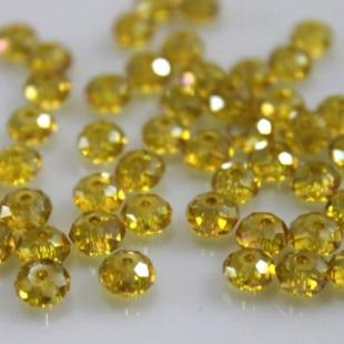 Isywaka разноцветные 4*6 мм 50 шт Австрийские граненые стеклянные бусины Rondelle, круглые бусины для изготовления ювелирных изделий - Цвет: Golden