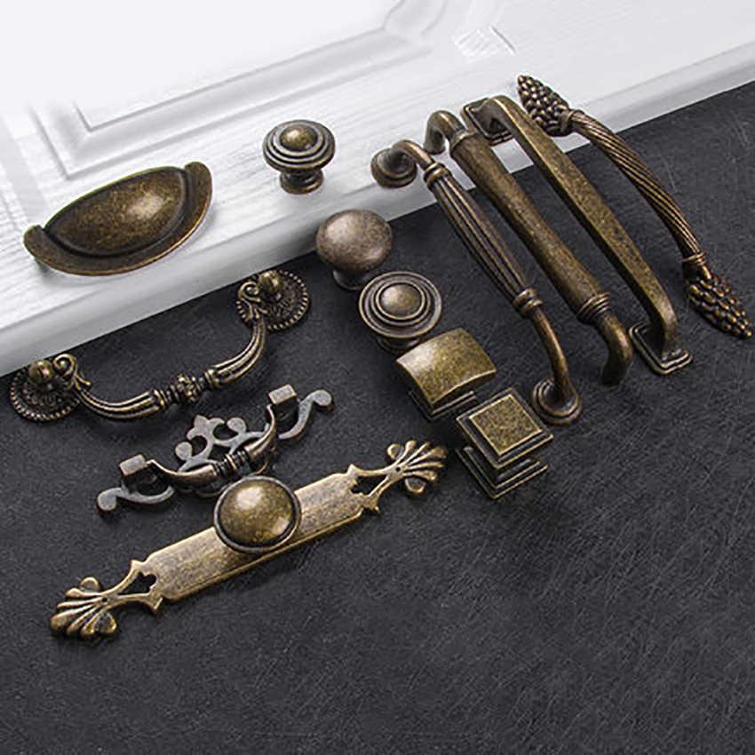Avrupa bronz dolap çeker ev dekor donanım antika mobilya kolu kolları dolap çekmece dolabı kapı çok tipi
