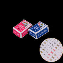 Hot sale 1 Set 1 Boxes 1/12 Scale doll house Miniature Poker Card Pretend Play Toy(China)