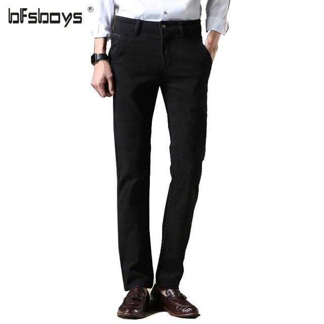 Black Color US Size 28-38 100% Cotton 2016 Fashion joggers Men Straight Casual Pants men's clothing Autumn Summer K48