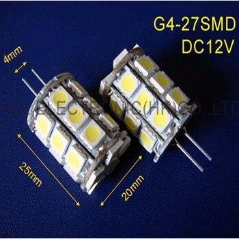High quality 5050 27SMD DC12V led G4 bulb (free shipping 20pcs/lot)